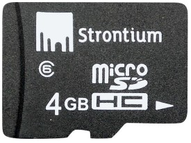 Strontium Memory Card 4 GB MicroSD Card (Class 6) price in india