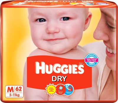 Buy Huggies Dry Diaper - Medium: Diaper