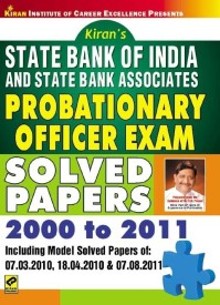 Buy State Bank of India (SBI) and State Bank Associates: Probationary Officer (PO)Exam Solved Papers 2000 to 2011: Regionalbooks