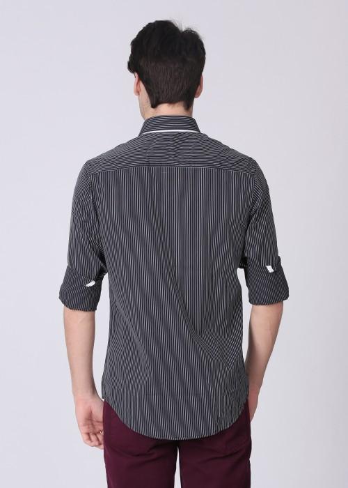 Buy Mufti Men's Striped Casual Shirt