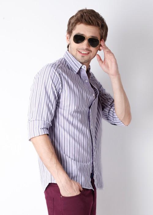 Buy Lee Men's Striped Casual Shirt