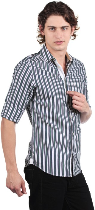 Buy French Connection Men's Striped Casual Shirt