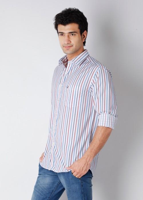 Buy Allen Solly Men's Striped Casual Shirt