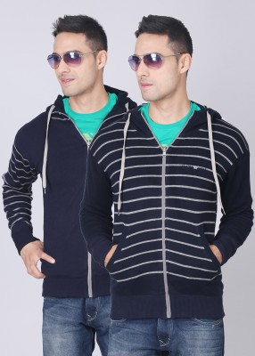 Sports 52 Wear Striped Casual Reversible Men's Sweater